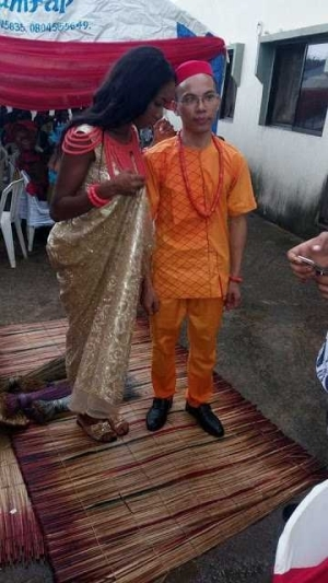 Lovely photos from the wedding of Nigerian lady and her Chinese boyfriend